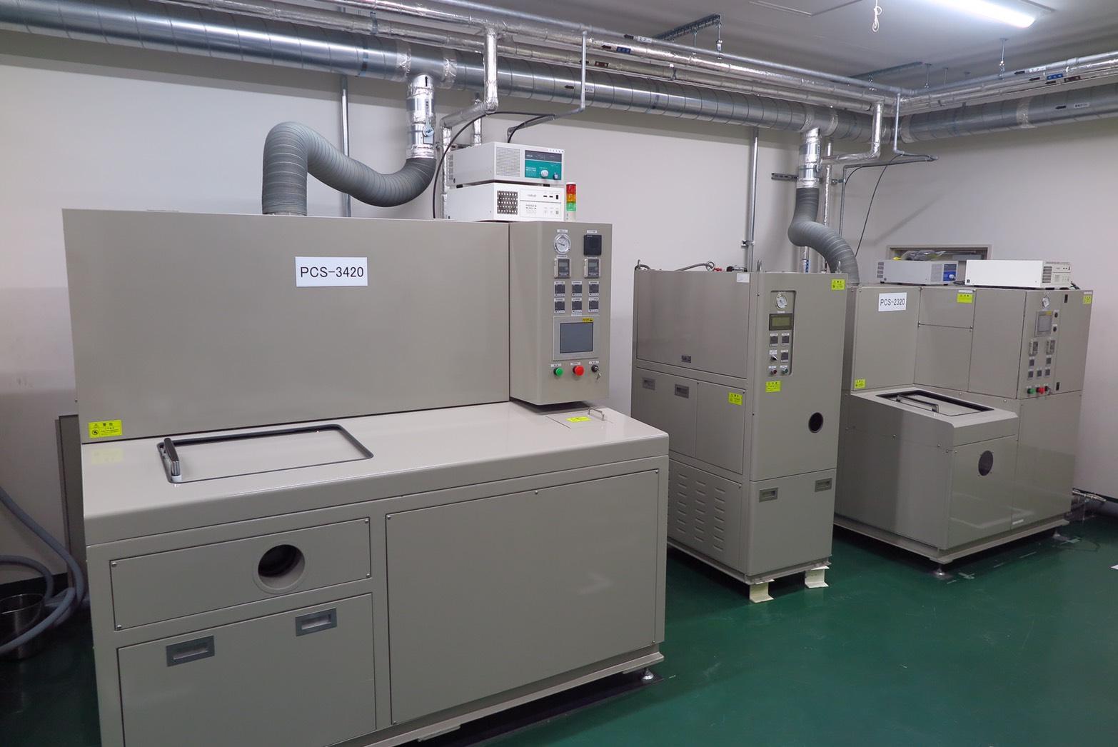 豊富なテスト用真空洗浄機を使い、お客様の洗浄に対するご要望に確実にお応えし、ご提案いたします。