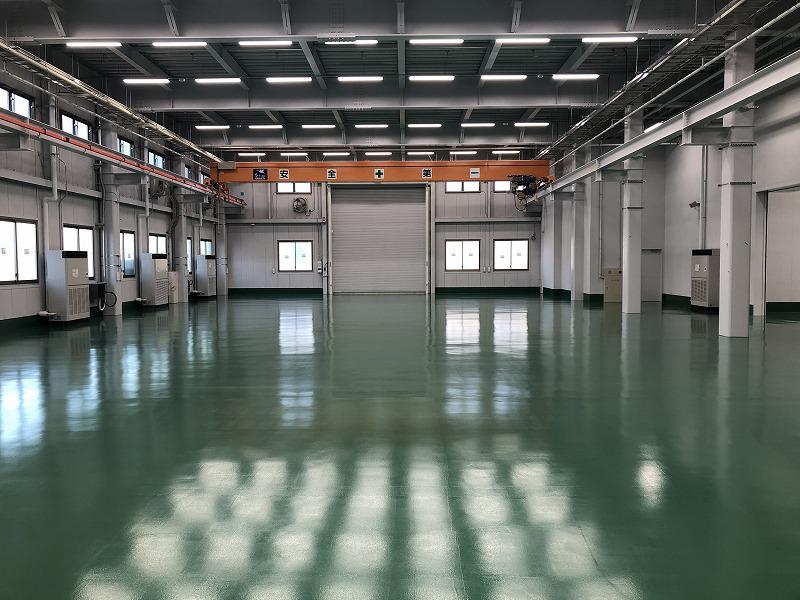 狩野川工場建築状況